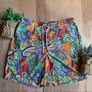 Polo Ralph Lauren Paisley Floral Swim Trunks